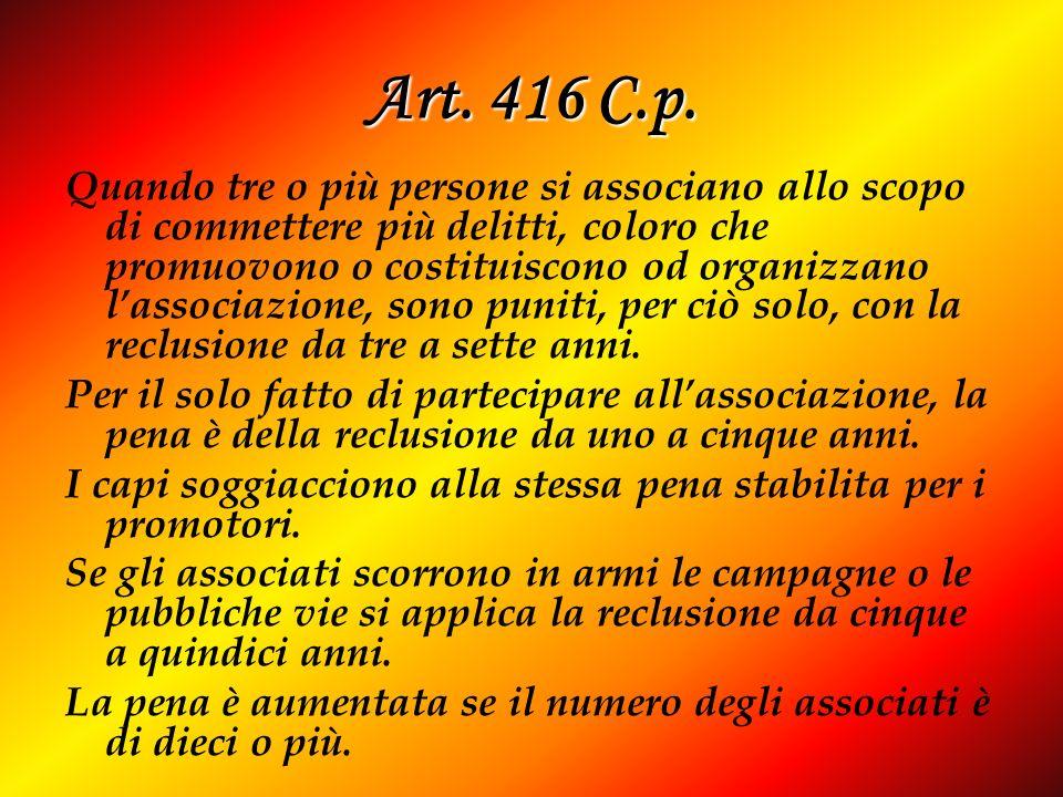 Art. 416 C.p.