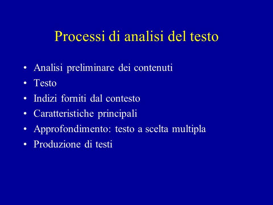 Processi di analisi del testo