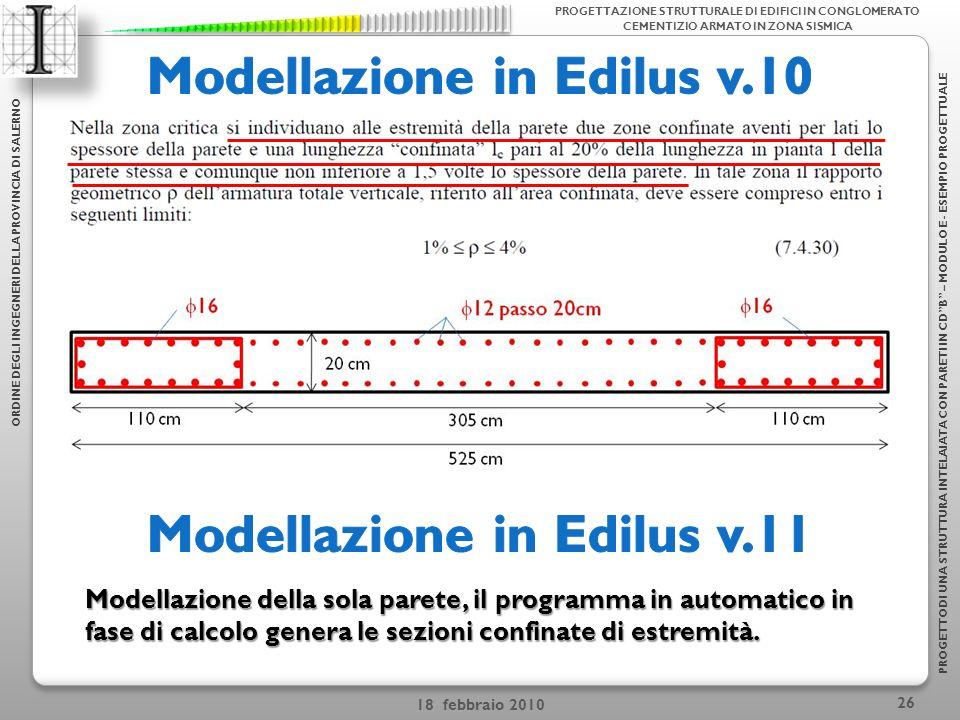 Modellazione in Edilus v.10 Modellazione in Edilus v.11