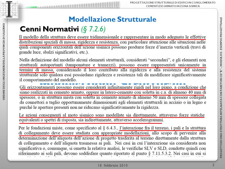 Modellazione Strutturale Modellazione Strutturale