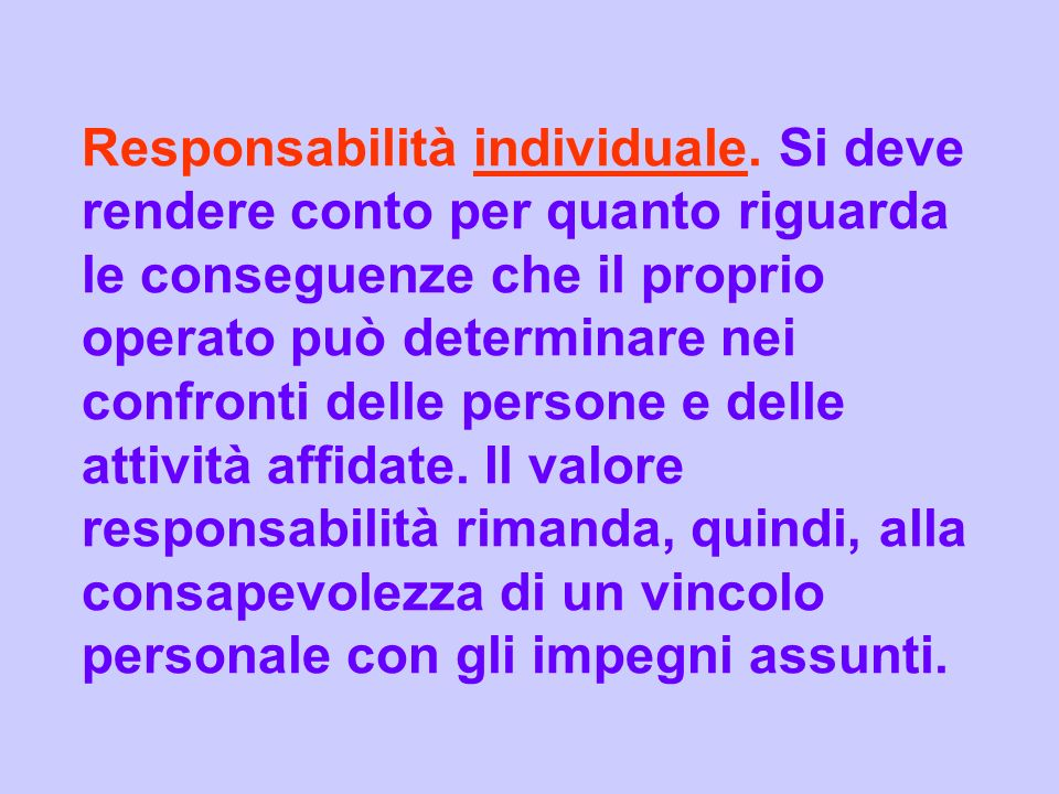 Responsabilità individuale