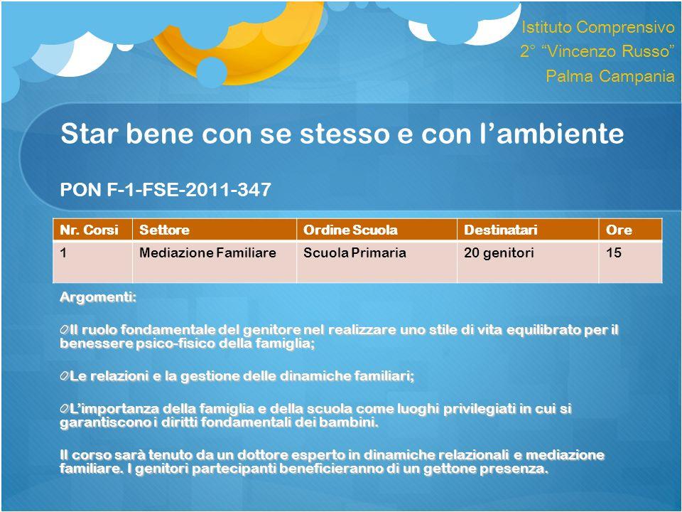Star bene con se stesso e con l'ambiente PON F-1-FSE-2011-347