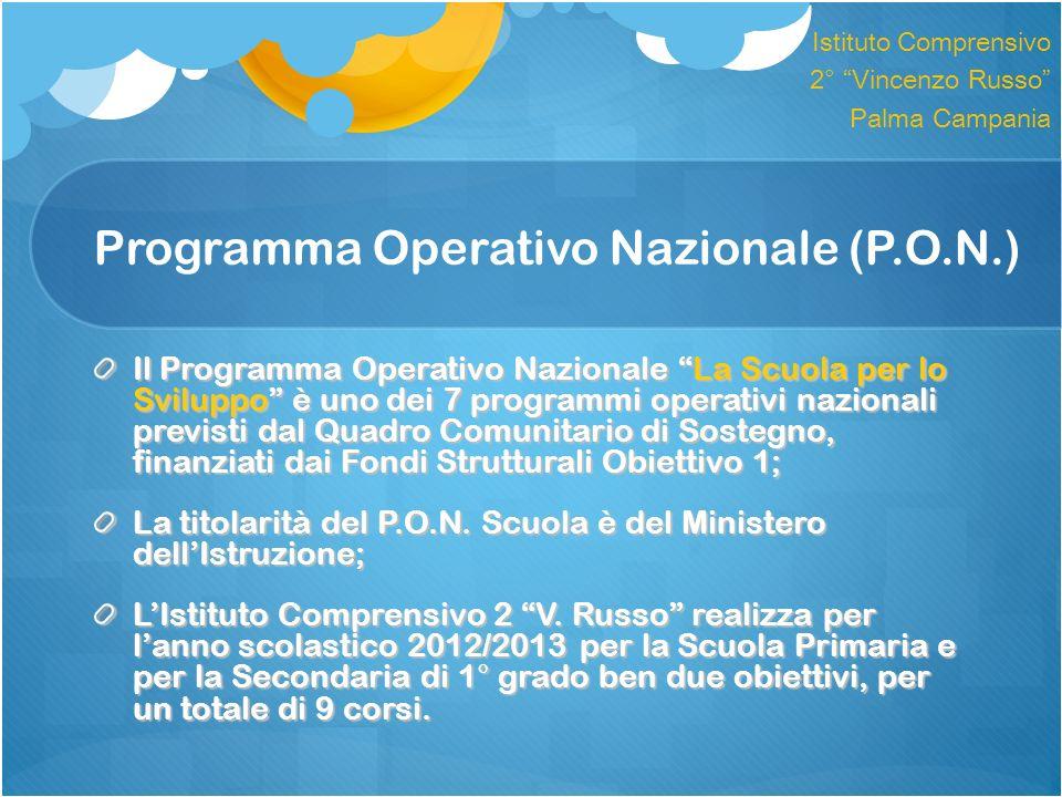 Programma Operativo Nazionale (P.O.N.)