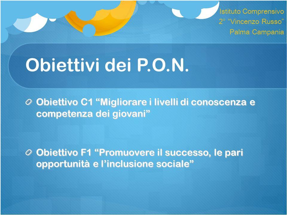 Istituto Comprensivo 2° Vincenzo Russo Palma Campania. Obiettivi dei P.O.N.