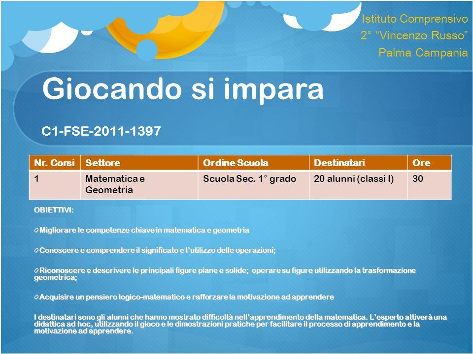 Giocando si impara C1-FSE-2011-1397