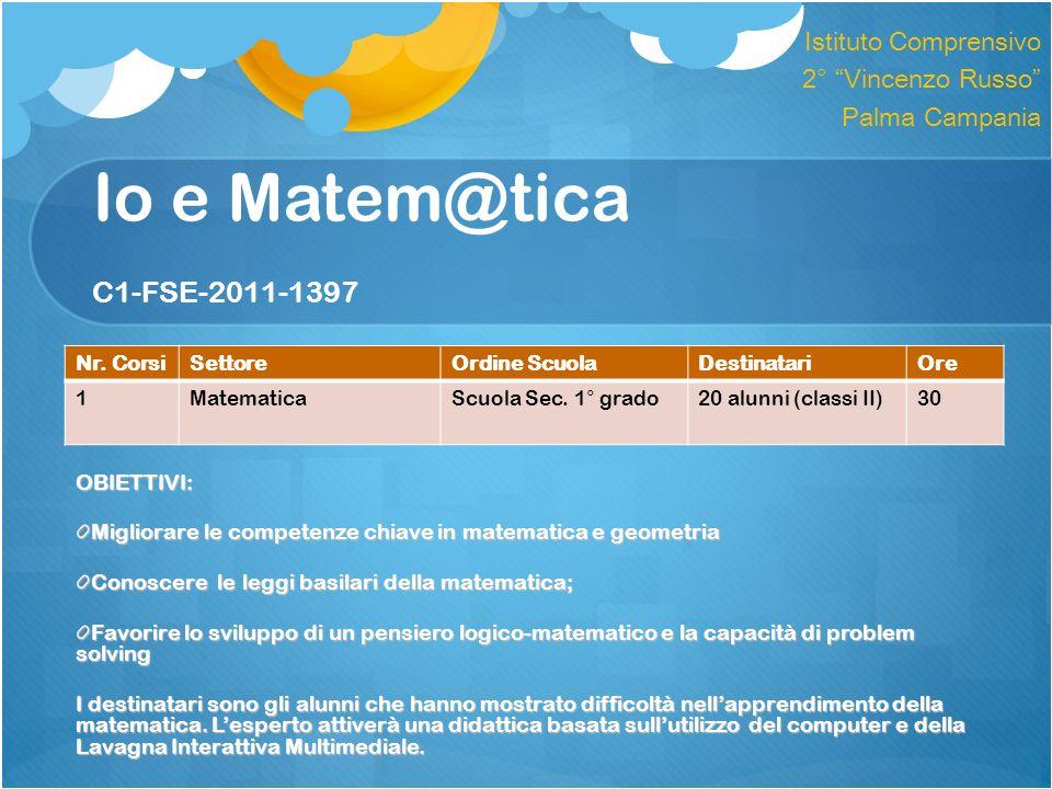Io e Matem@tica C1-FSE-2011-1397