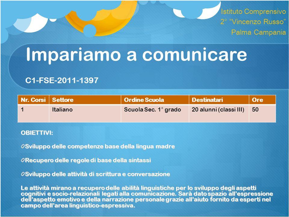 Impariamo a comunicare C1-FSE-2011-1397