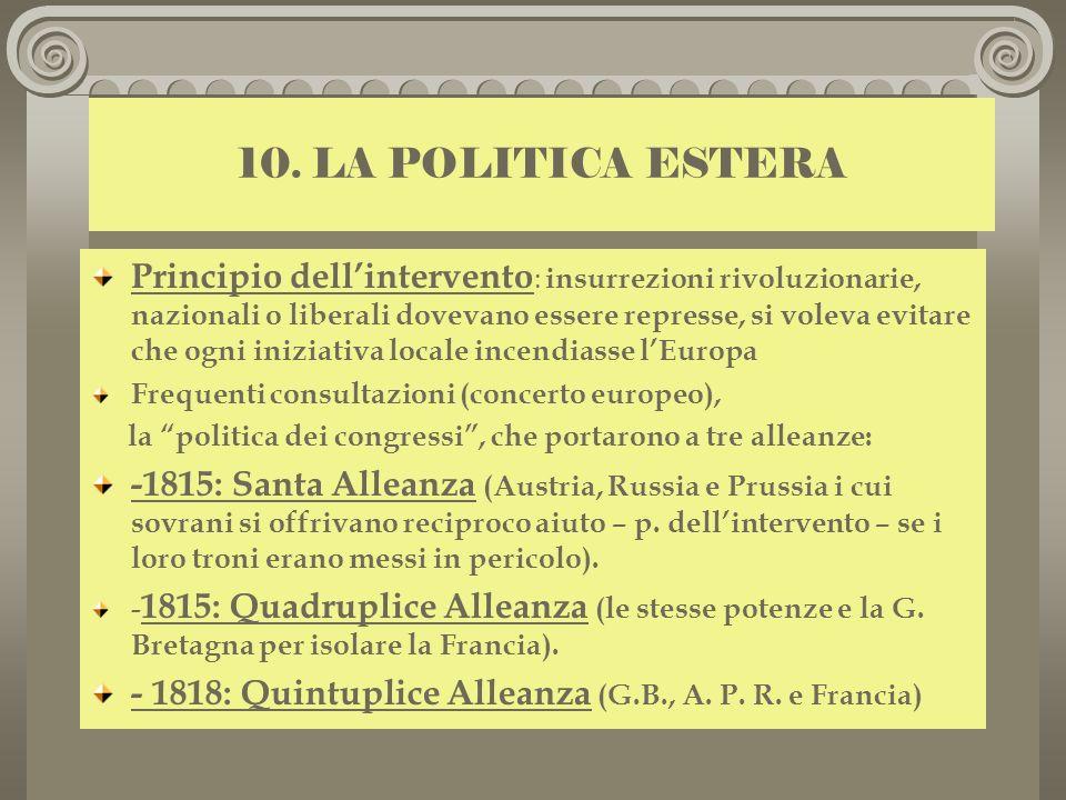 10. LA POLITICA ESTERA