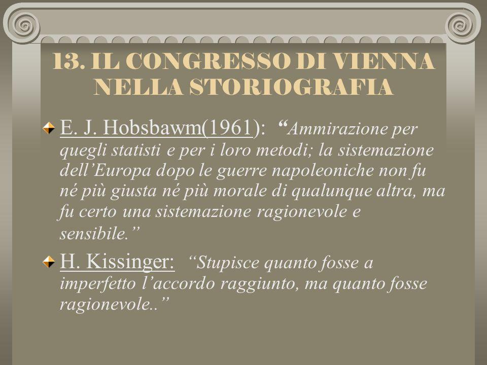 13. IL CONGRESSO DI VIENNA NELLA STORIOGRAFIA