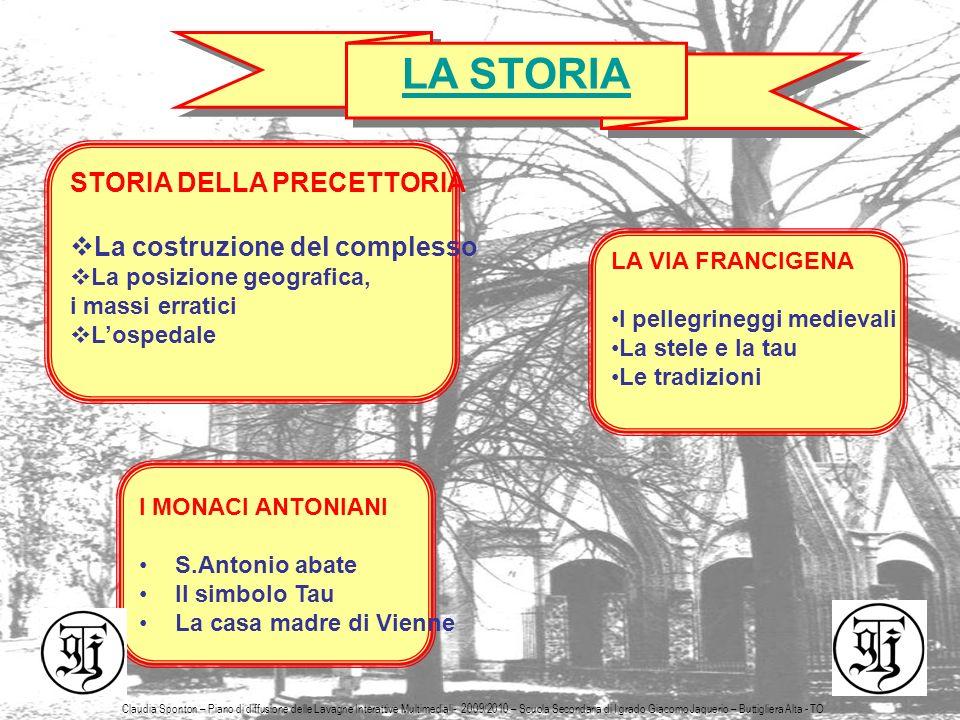 LA STORIA STORIA DELLA PRECETTORIA La costruzione del complesso