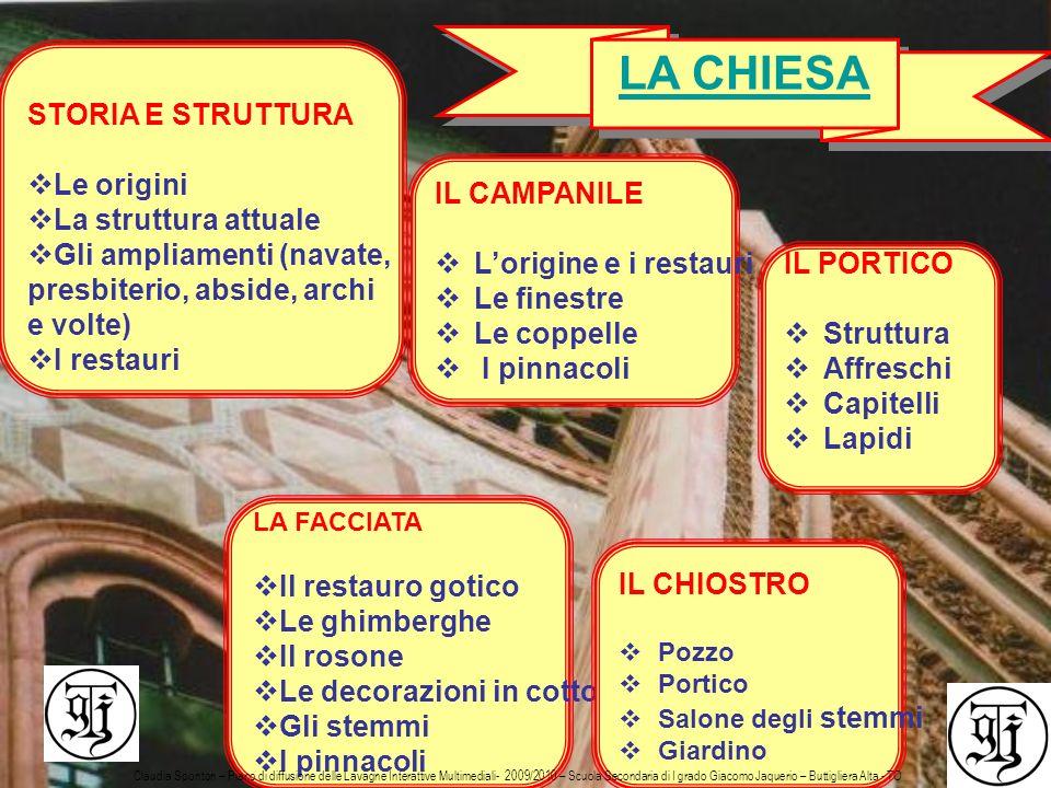 LA CHIESA STORIA E STRUTTURA Le origini La struttura attuale