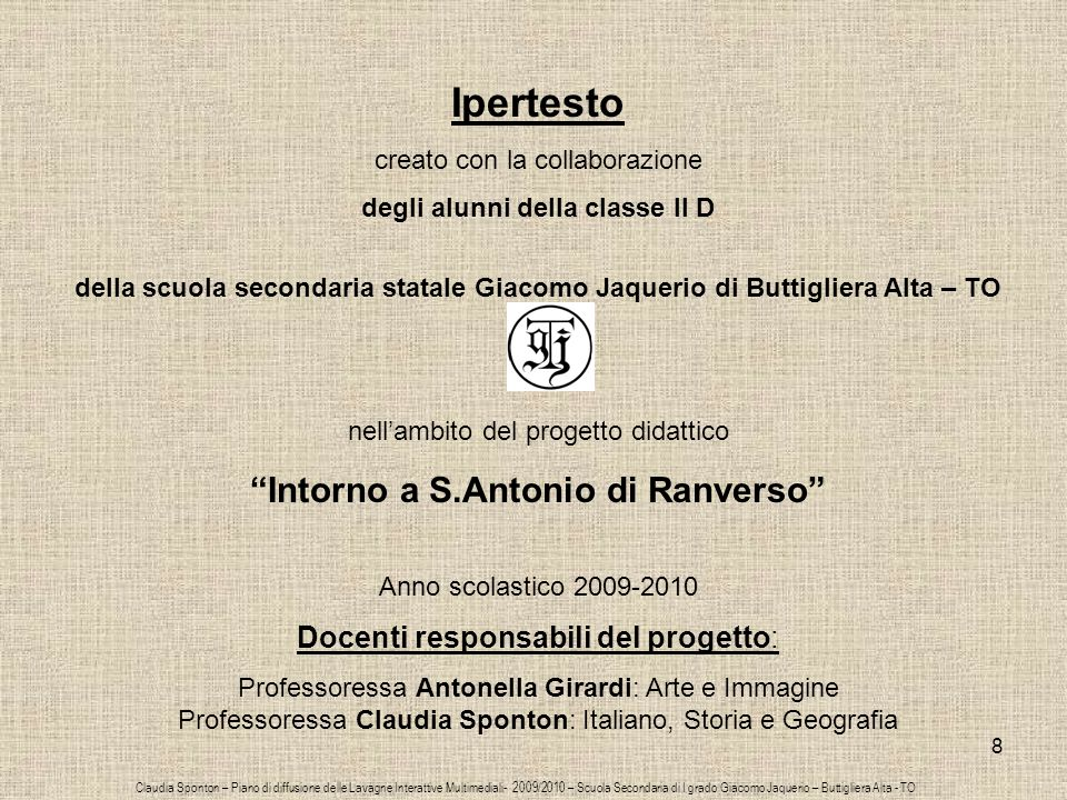 Ipertesto Intorno a S.Antonio di Ranverso