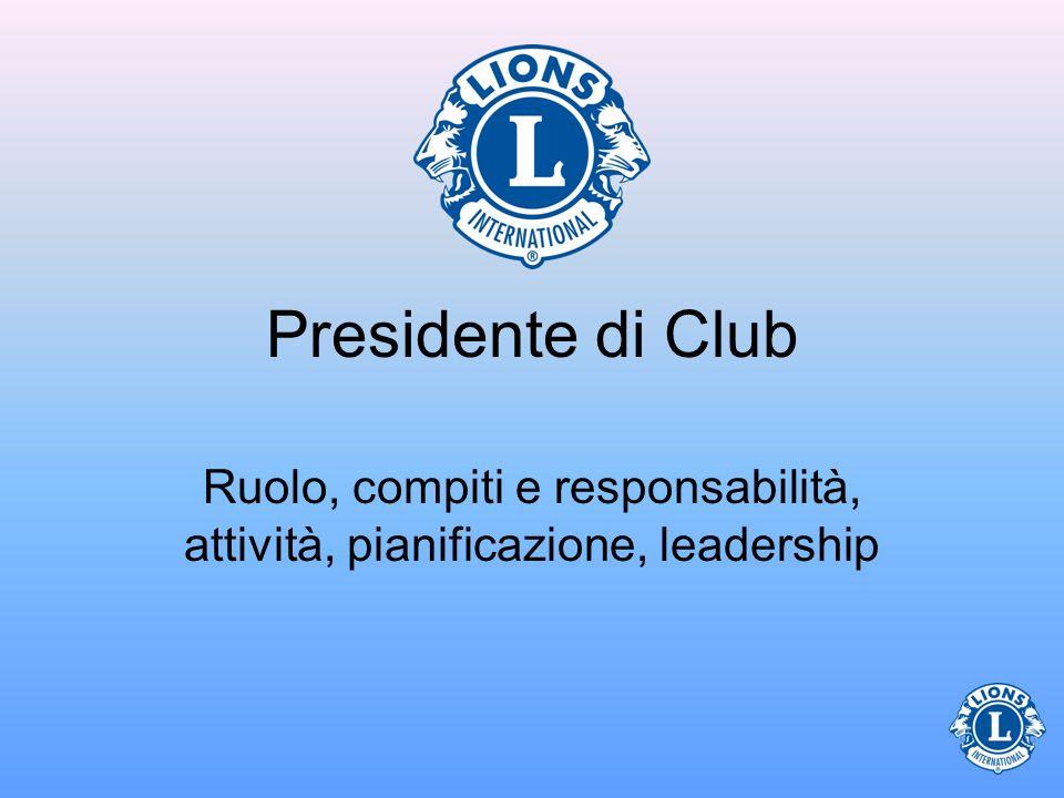 Ruolo, compiti e responsabilità, attività, pianificazione, leadership