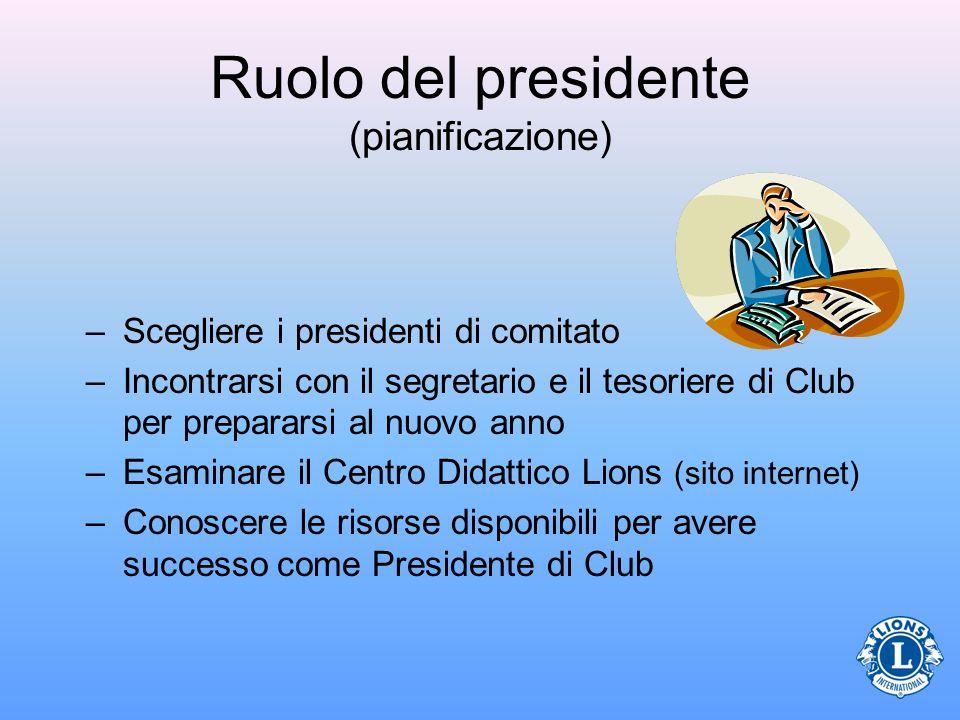 Ruolo del presidente (pianificazione)