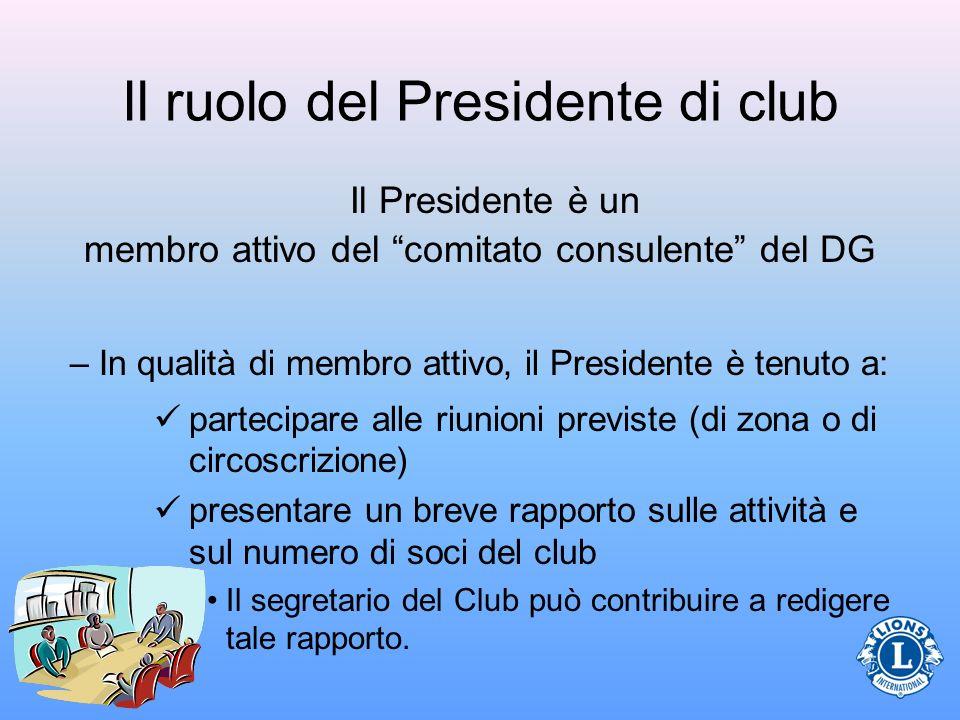 Il ruolo del Presidente di club