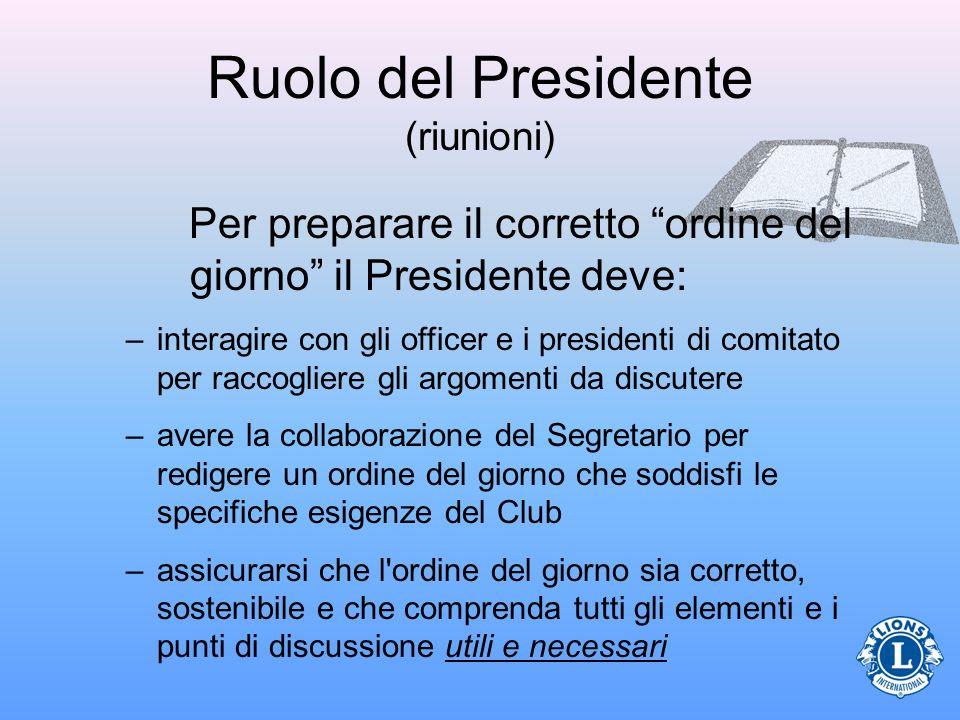 Ruolo del Presidente (riunioni)