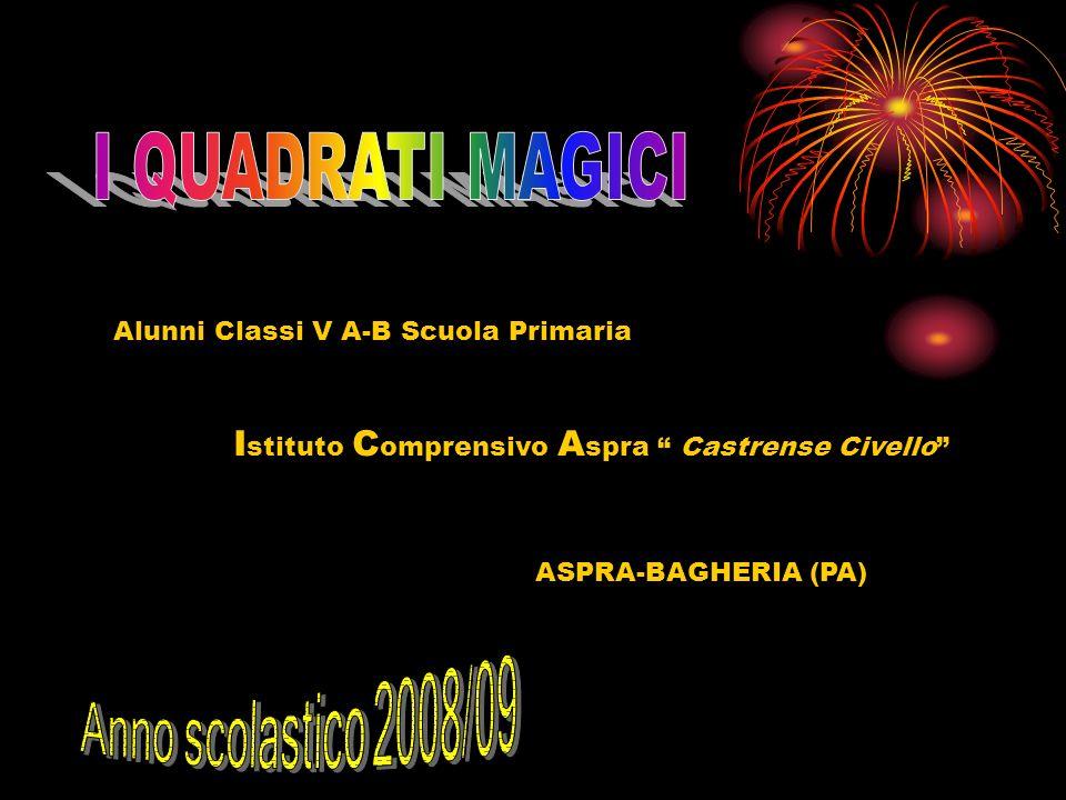 I QUADRATI MAGICI Istituto Comprensivo Aspra Castrense Civello