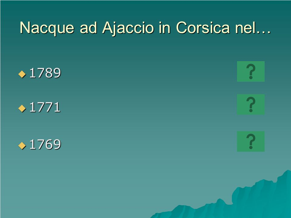 Nacque ad Ajaccio in Corsica nel…