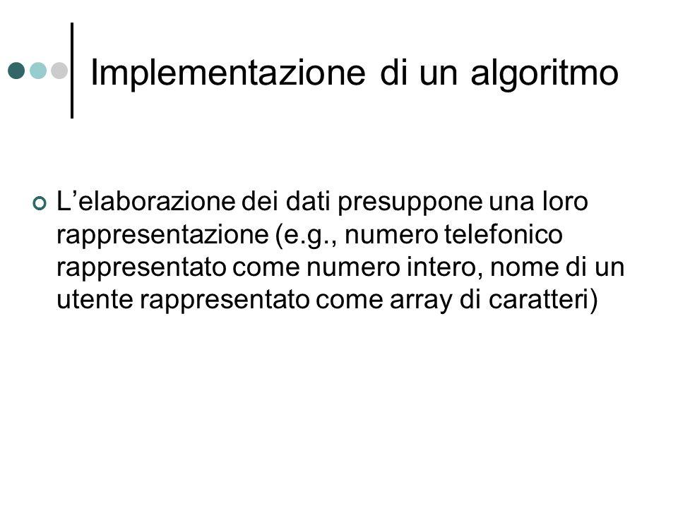 Implementazione di un algoritmo