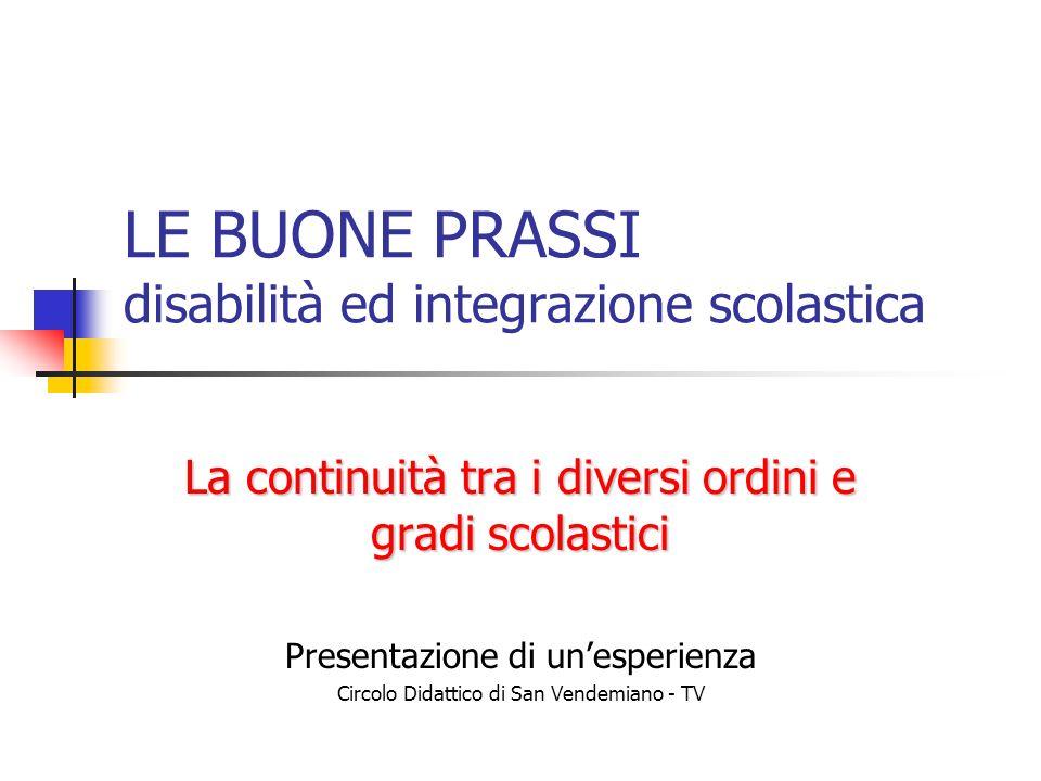 LE BUONE PRASSI disabilità ed integrazione scolastica
