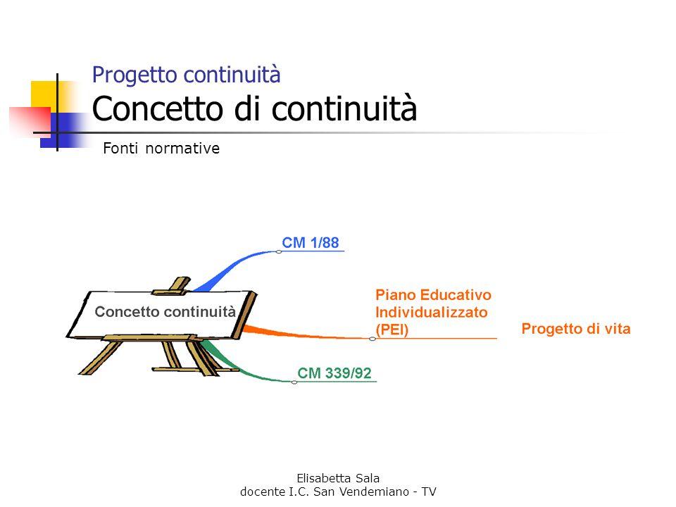 Progetto continuità Concetto di continuità