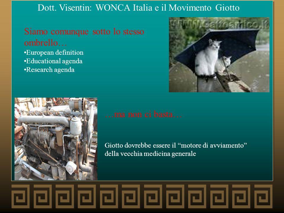 Dott. Visentin: WONCA Italia e il Movimento Giotto