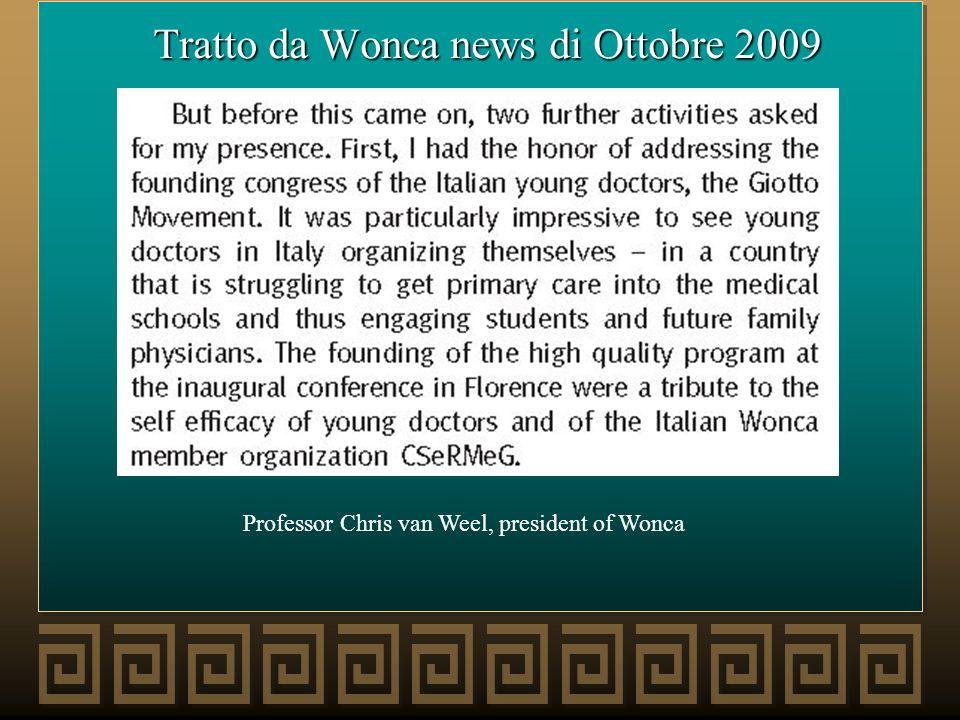 Tratto da Wonca news di Ottobre 2009