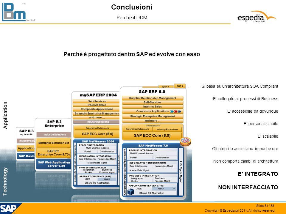 Perchè è progettato dentro SAP ed evolve con esso