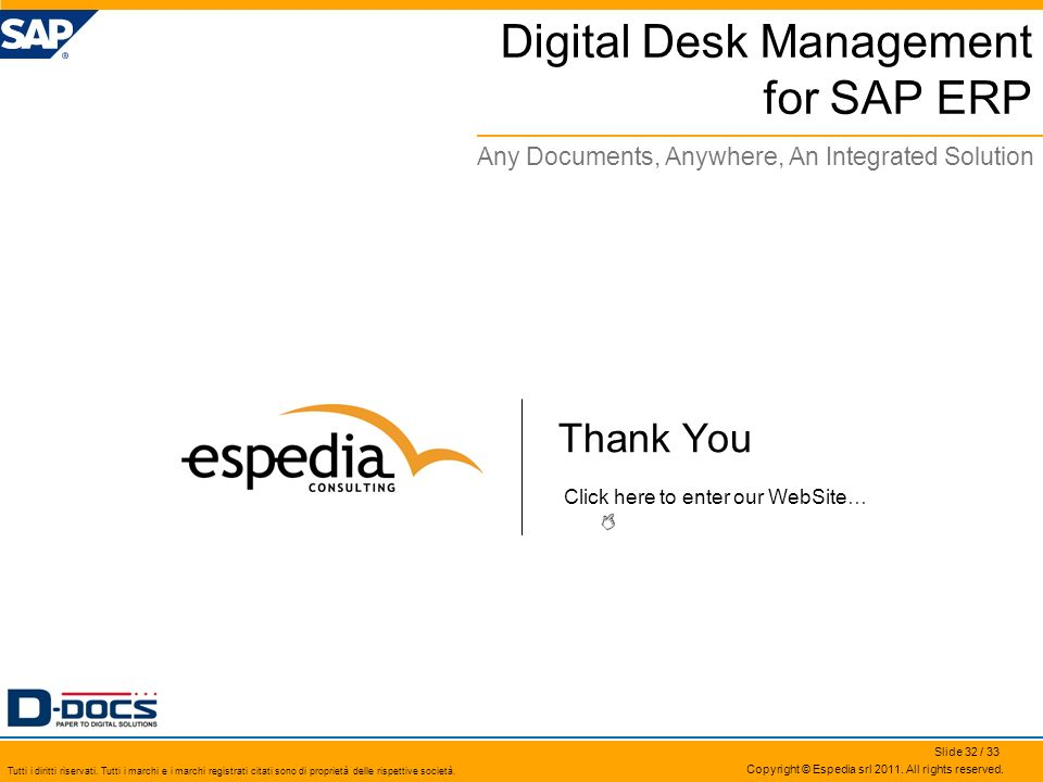 Digital Desk Management for SAP ERP