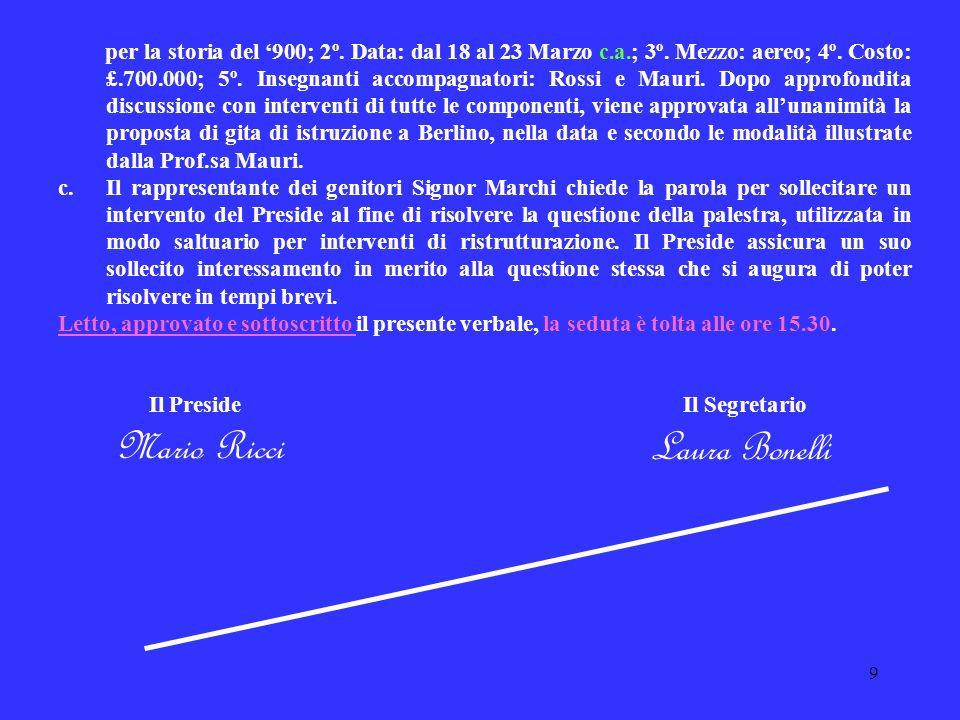 Mario Ricci Laura Bonelli