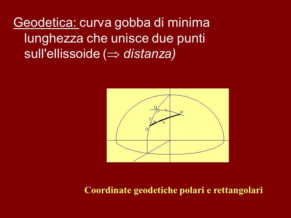 Coordinate geodetiche polari e rettangolari