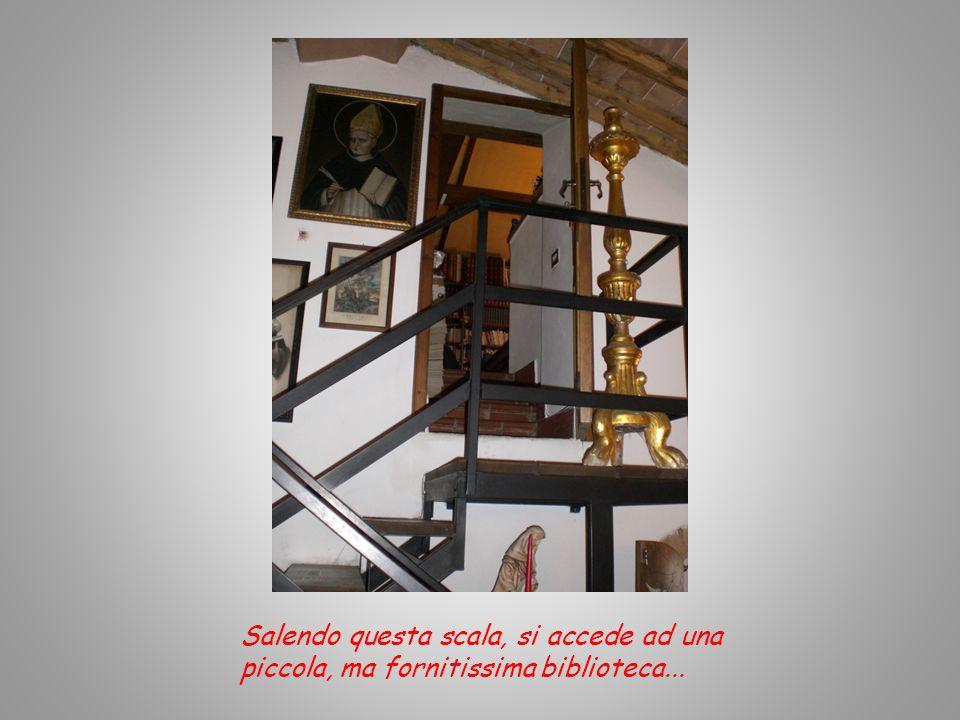 Salendo questa scala, si accede ad una piccola, ma fornitissima biblioteca...