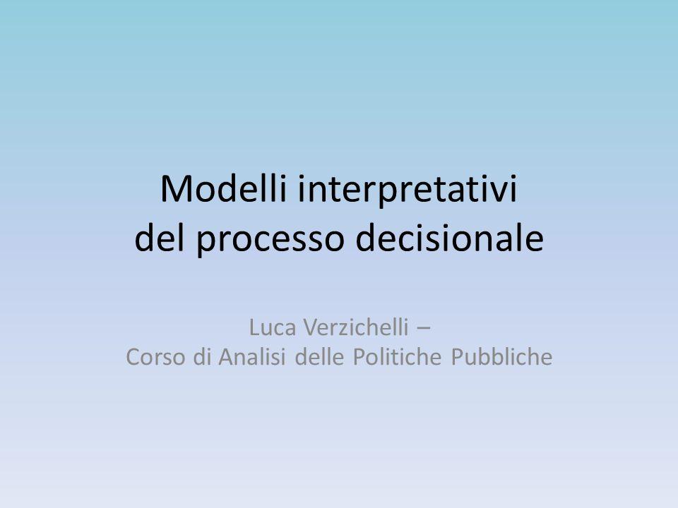 Modelli interpretativi del processo decisionale