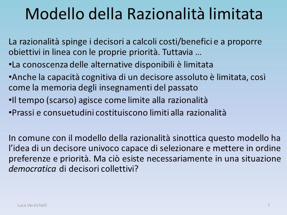 Modello della Razionalità limitata