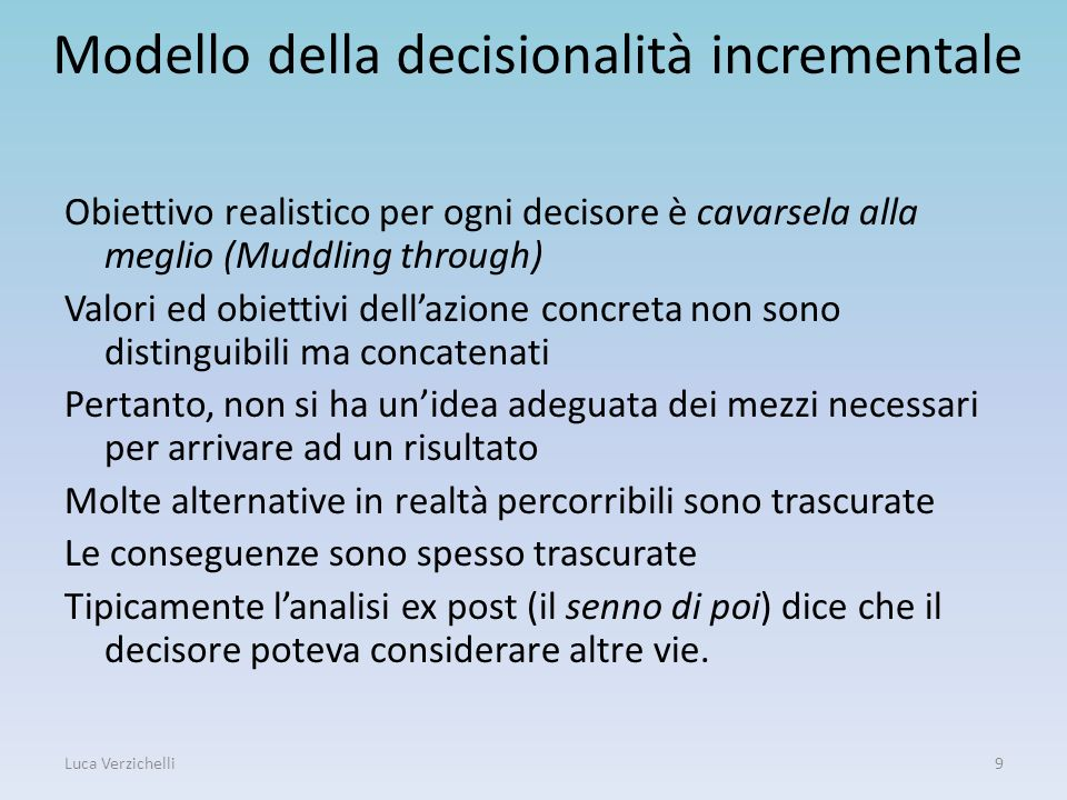 Modello della decisionalità incrementale