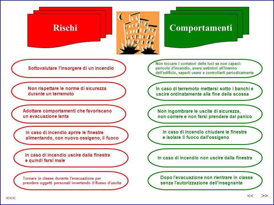 Rischi e comportamenti: segue