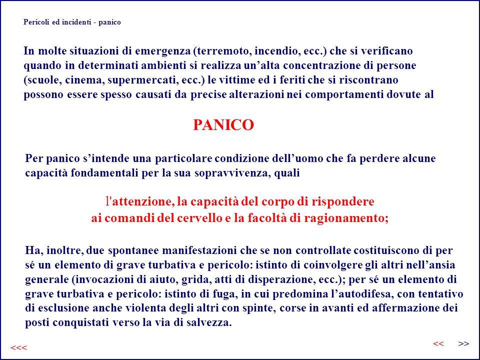 Pericoli ed incidenti - panico