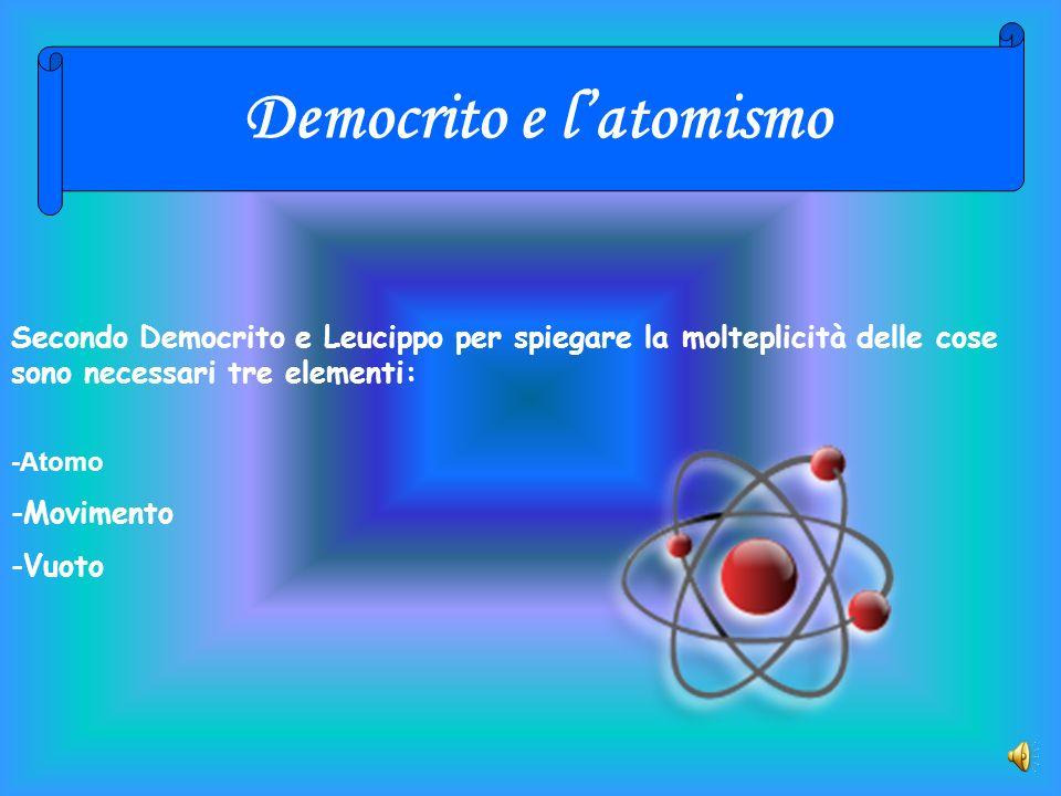 Democrito e l'atomismo