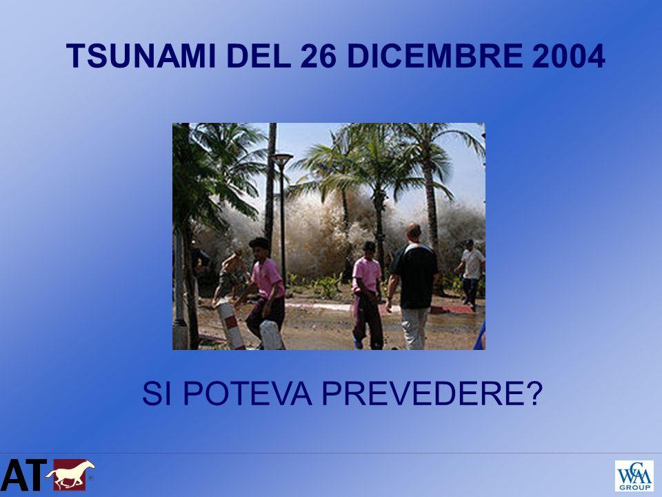 TSUNAMI DEL 26 DICEMBRE 2004 SI POTEVA PREVEDERE