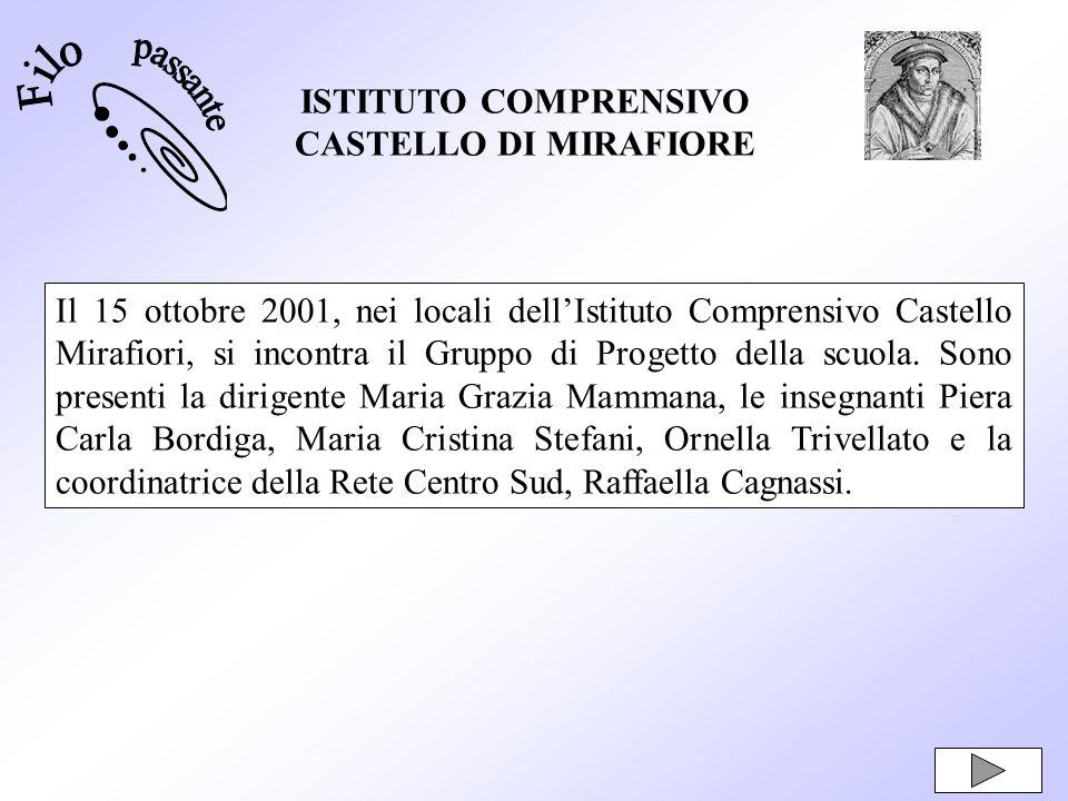 FiloISTITUTO COMPRENSIVO. CASTELLO DI MIRAFIORE. passante.