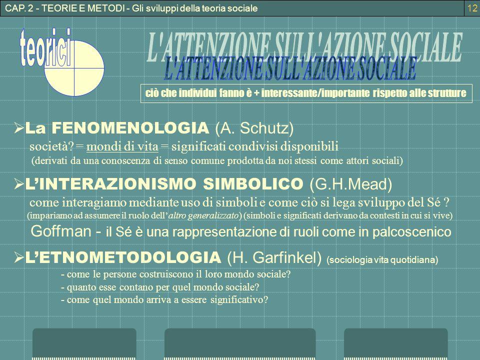 L ATTENZIONE SULL AZIONE SOCIALE