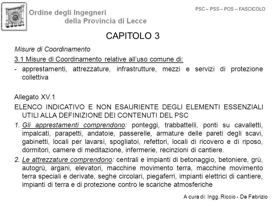 CAPITOLO 3 Misure di Coordinamento