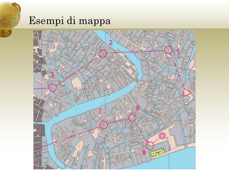 Esempi di mappa Inserire una cartina del paese.