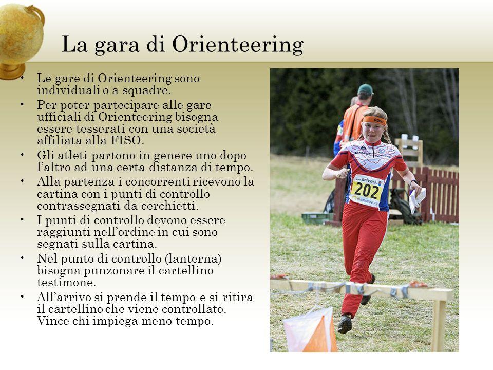 La gara di Orienteering