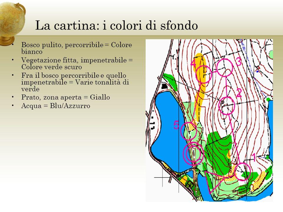 La cartina: i colori di sfondo