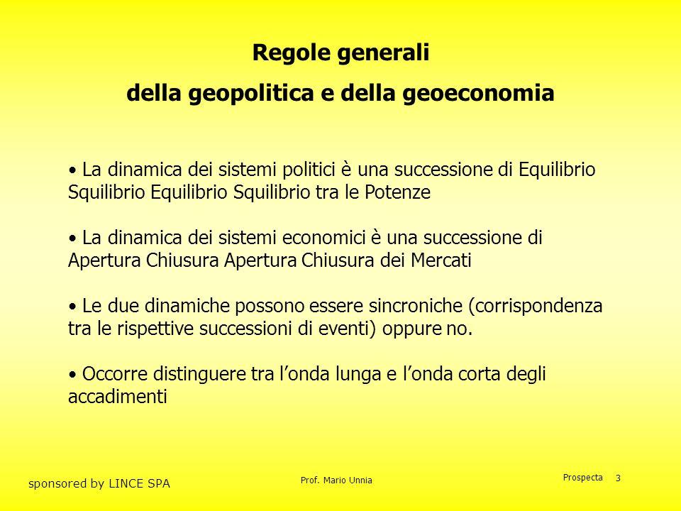della geopolitica e della geoeconomia