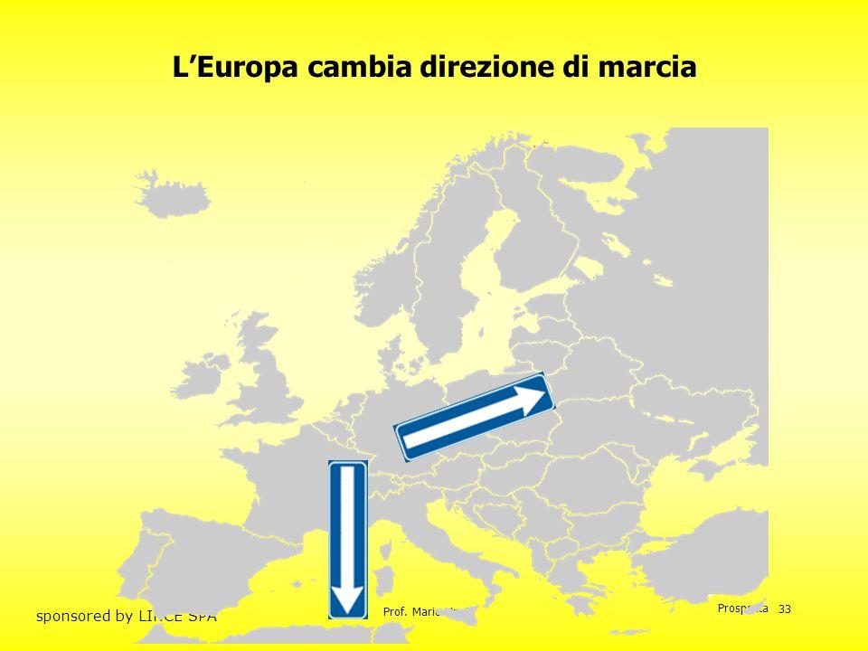 L'Europa cambia direzione di marcia