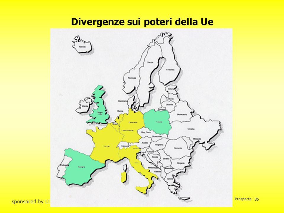 Divergenze sui poteri della Ue