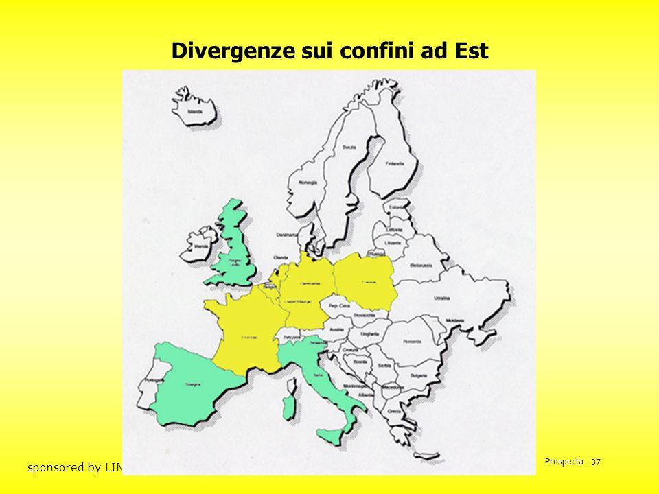 Divergenze sui confini ad Est