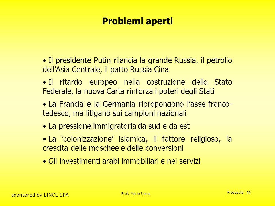 Problemi aperti Il presidente Putin rilancia la grande Russia, il petrolio dell'Asia Centrale, il patto Russia Cina.